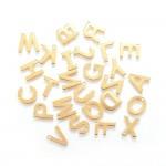 Guld bogstav vedhæng