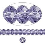 Swarovski® crystal, 8x6mm facetslebet rondel, Tanzanite-20