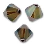 6mm Swarovski bicones crystal bronze shade 2x