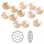 Swarovski® crystal, 8mm marguerite lochrose flower, Light peach-20