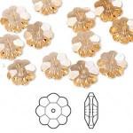 Swarovski® crystal, 10mm marguerite lochrose flower, Light peach-20