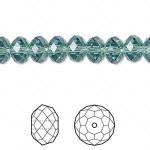 Swarovski® crystal, 8x6mm facetslebet rondel, Erinite-20