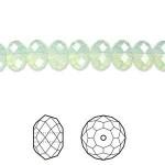 Swarovski® crystal, 8x6mm facetslebet rondel, Chrysolite opal-20