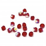 5mm swarovski bicones Light Siam AB