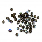 4mm swarovski bicones smoky quartz ab