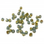 4mm swarovski bicones Pacific Opal Brandy