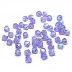 4mm swarovski bicones violet ab2x