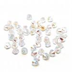 4mm swarovski bicones white opal ab2x