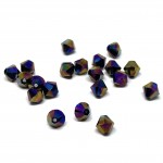 5mm swarovski bicones Crystal Rainbow Dark 2X
