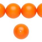 Swarovski® crystal pearl, neon orange, 16mm rund-20
