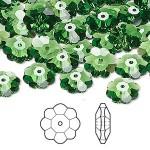 Swarovski® crystal, 10mm marguerite lochrose flower, Fern green-20