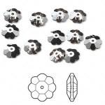 Swarovskicrystal8mmmargueritelochroseflowerCrystalsatinfoilback-20