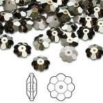Swarovskicrystal8mmmargueritelochroseflowerCrystalbronzeshadefoilback-20