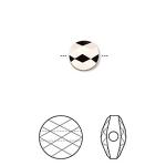 Swarovski crystal, 8mm facetslebet mini round, crystal rose gold 2X-20