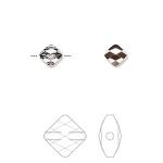 Swarovski crystal, 6mm facetslebet mini rhombus, crystal rose gold-20