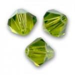Swarovski crystal 2,5mm bicone, Olivine, 10 stk-20