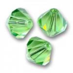 Swarovski crystal 2,5mm bicone, Peridot, 10 stk-20