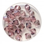 6mm Swarovski bicones light rose blue shade