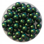 6mm Swarovski pearls scarabaeus green