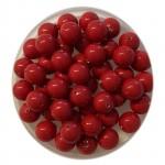 6mm Swarovski pearls red coral