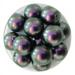 10mm swarovski pearls Iridescent purple