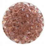 5mm rosa swarovski bicones blush rose