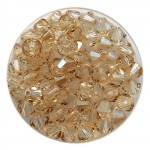 5mm beige swarovski bicones golden shadow