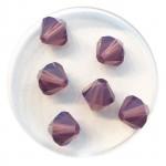 8mm swarovski bicones cyclamen opal