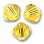 3mm swarovski bicones light topaz