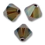 3mm swarovski bicones Crystal Bronze Shade 2x