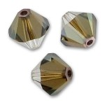 3mm swarovski bicones Crystal Bronze Shade