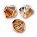 3mm swarovski bicones crystal copper