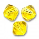 3mm swarovski bicones citrine