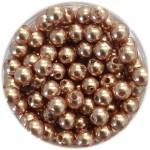 3mm rose gold perler