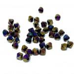 6mm swarovski bicones Crystal Rainbow Dark 2X