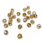 Swarovski crystal, Crystal Metallic Sunshine, 6mm facetslebet rund-20