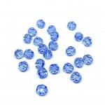 Swarovski crystal, Light Sapphire, 6mm facetslebet rund-20
