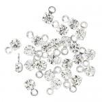 swarovski drop sølv klar