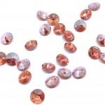 Swarovski Rivoli Pendant Xilion, 6mm Rose Peach Shimmer, 2 stk-20