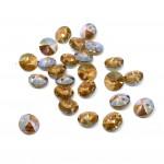 Swarovski Rivoli Pendant Xilion, 6mm Light Colorado Topaz Shimmer, 2 stk-20