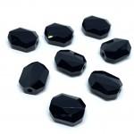 Swarovski crystal, 12x10mm faceted graphic, jet (sort)-20