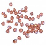 5mm swarovski bicones rose peach shimmer