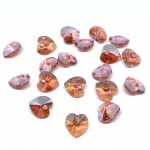 rose peach swarovski hearts