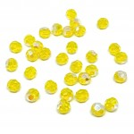 Swarovski crystal, Yellow Opal Shimmer, 6mm facetslebet rund-20