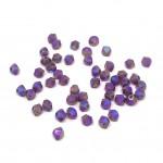 3mm swarovski bicones cyclamen opal shimmer 2x