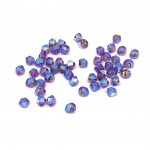 3mm swarovski bicones iris ab 2x