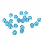 4mm sort facetslebet rund swarovski crystal Light turquoise