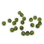 4mm sort facetslebet rund swarovski crystal olivine