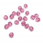 4mm sort facetslebet rund swarovski crystal Rose