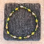 Swarovski armbånd grøn og gul
